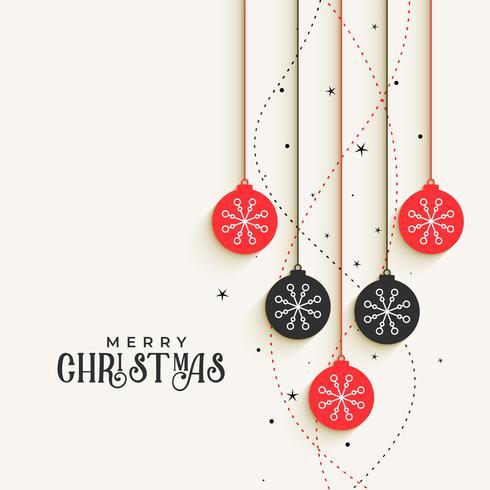 hermosas bolas decorativas de navidad saludo diseño