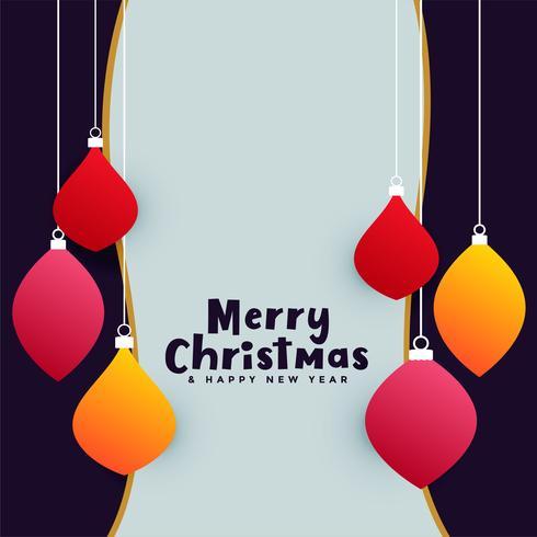 Fondo de saludo de celebración de Navidad feliz