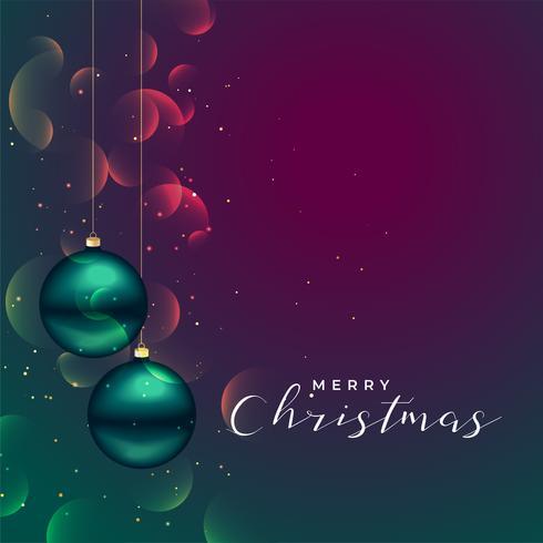 Fondo brillante feliz Navidad con decoración de bolas 3d