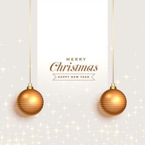 fantástico fundo de saudação de Natal com bolas decorativas