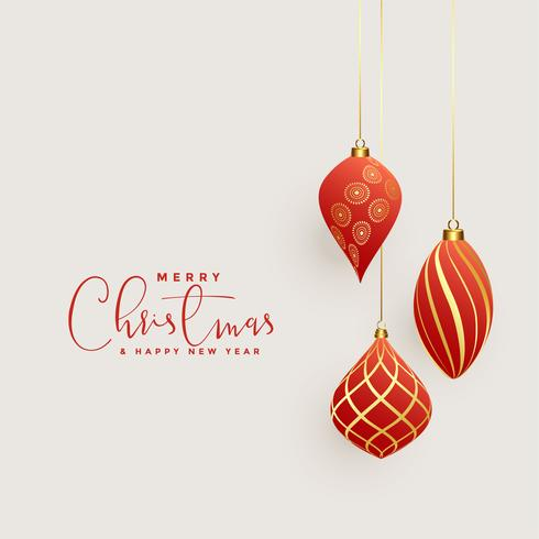 vacker jul bollar dekoration bakgrund