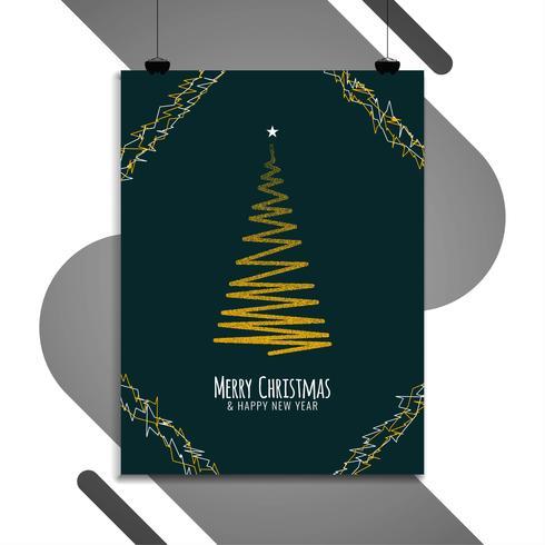 Resumen plantilla de folleto de feliz Navidad vector