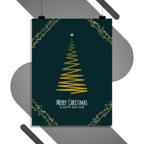 Abstrakt Merry Christmas broschyr mall vektor
