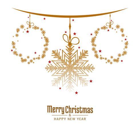Fondo de saludo festival de feliz Navidad abstracto