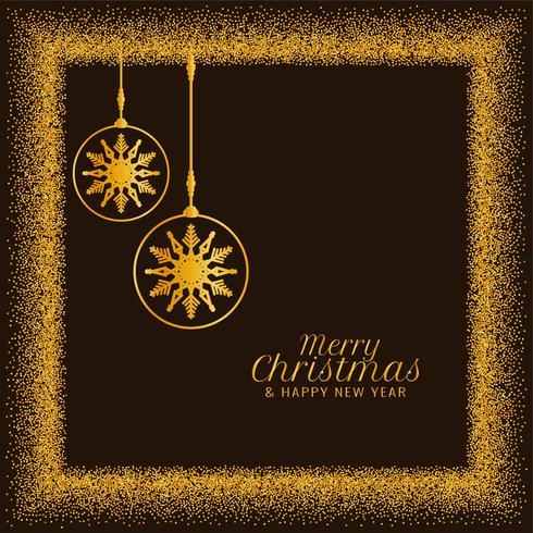 Feliz Navidad dorada brilla de fondo