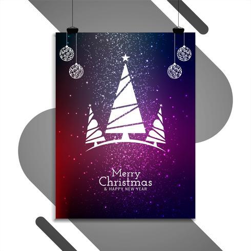 Abstraite conception de brochure décorative de joyeux Noël