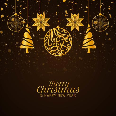 Abstrakter stilvoller dekorativer Hintergrund der frohen Weihnachten vektor