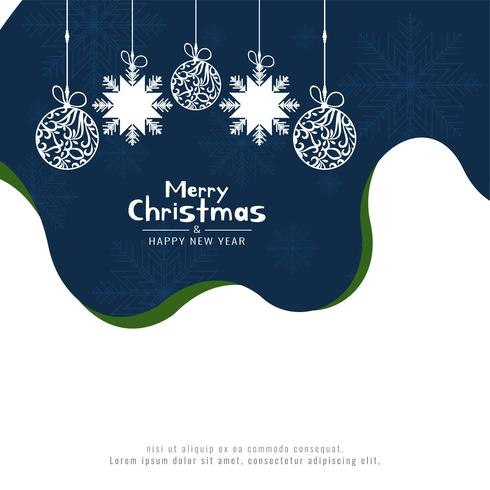Abstracte Merry Christmas festival begroeting achtergrond vector