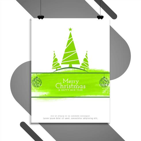 Modèle de conception de brochure abstrait joyeux Noël