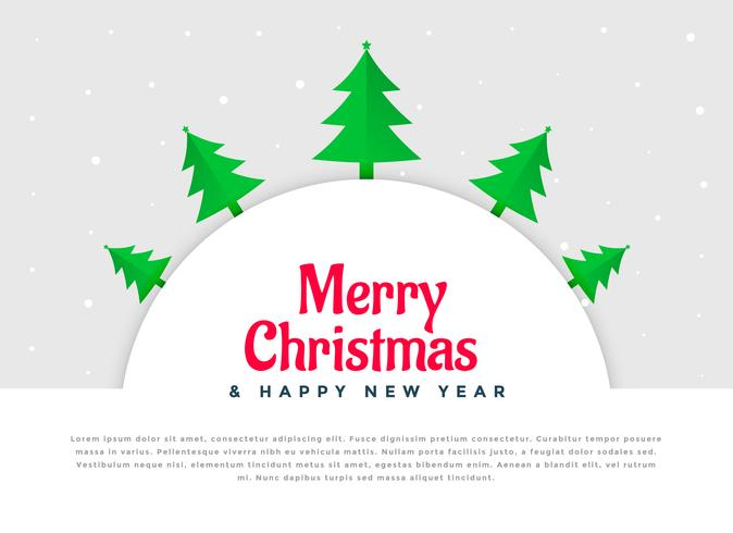 design de plano de fundo de decoração de árvore de Natal