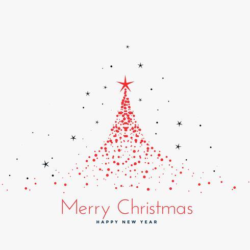arbre de Noël rouge fait avec des particules
