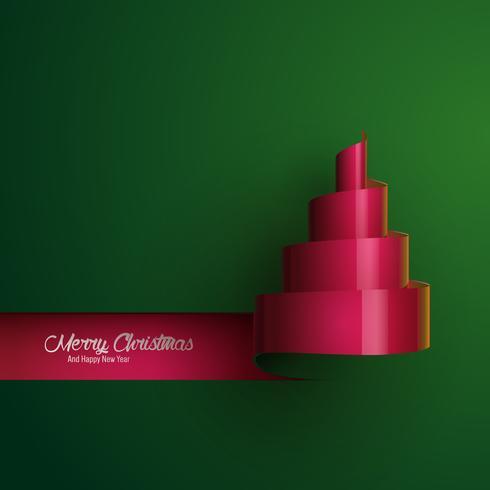 Arbre de Noël en ruban stylisé