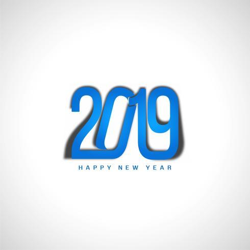 Feliz año nuevo 2019 elegante diseño de texto vector