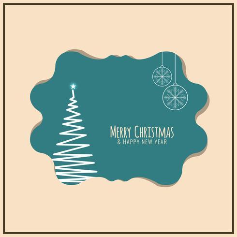 Abstracte Merry Christmas-festivalachtergrond vector
