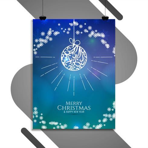 Modèle de brochure colorée abstrait joyeux Noël