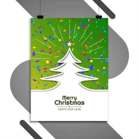 Modèle de brochure abstrait joyeux Noël vecteur