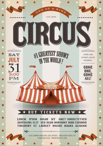 Cartel del circo del Grunge del vintage