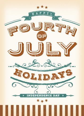 Vintage Fourth Of July Holidays