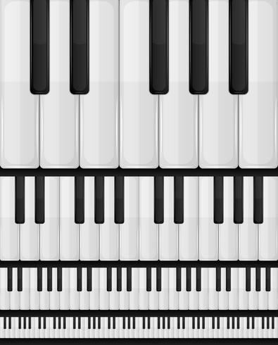 Fondo transparente de teclado de piano