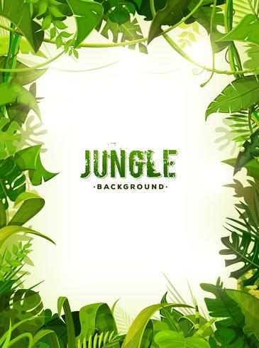 Fondo tropicale delle foglie della giungla vettore