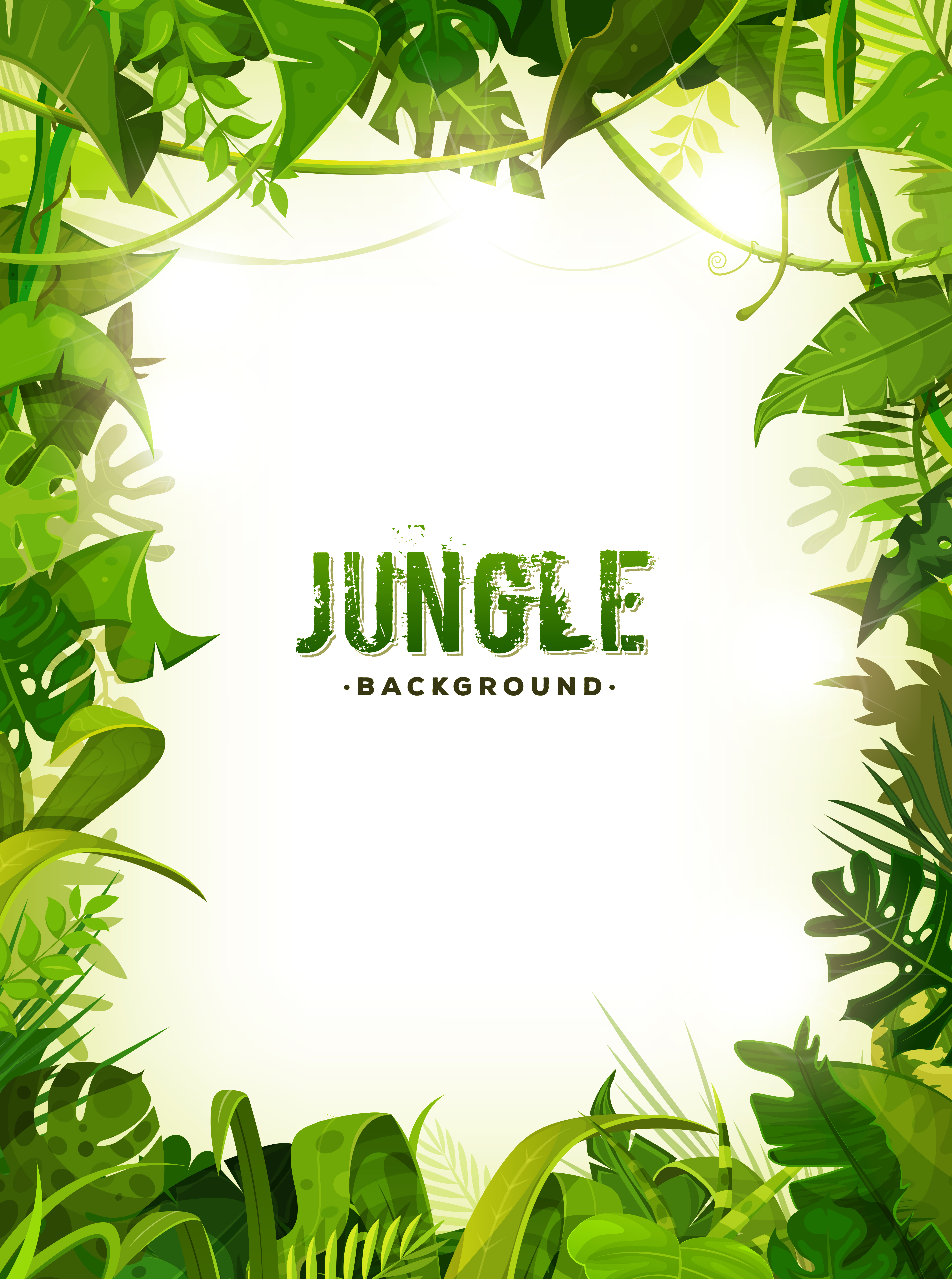 Jungle Tropical Leaves Background Download Free Vector