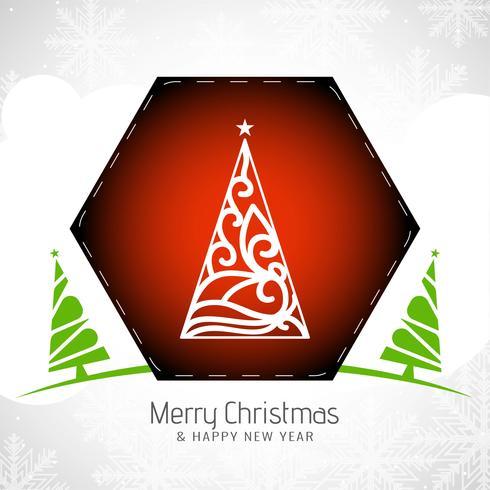 Abstrakt Glad julfestival hälsning bakgrund