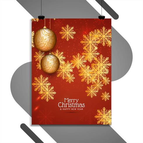 Abstract Merry Christmas brochure design template