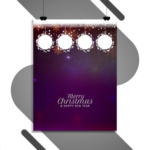 Abstrakt Glad julfestival färgstark broschyr