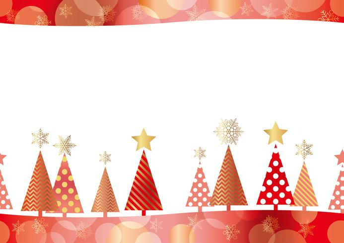 Christmas seamless forest background.