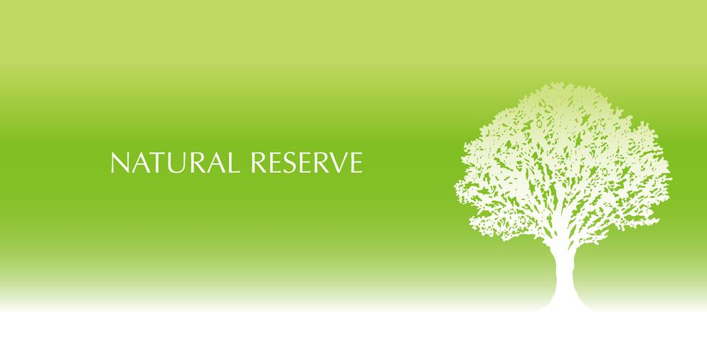 Fresh green background with a tree silhouette and text space.