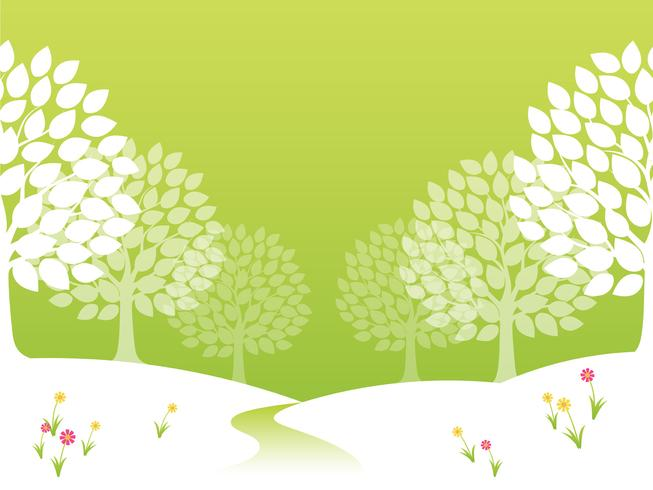 Seamless vector springtime forest illustration.