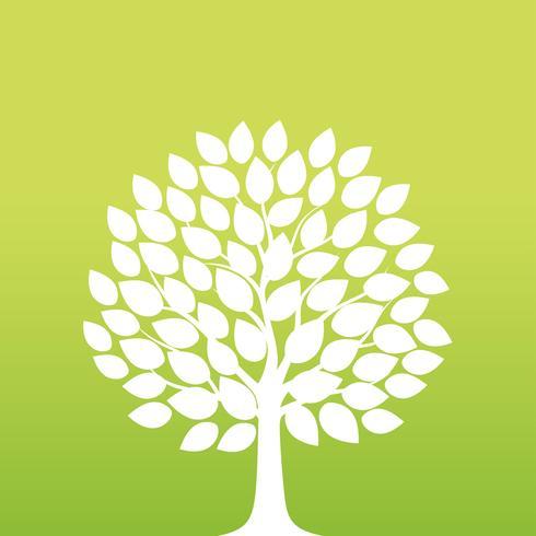 Springtime tree vector illustration.