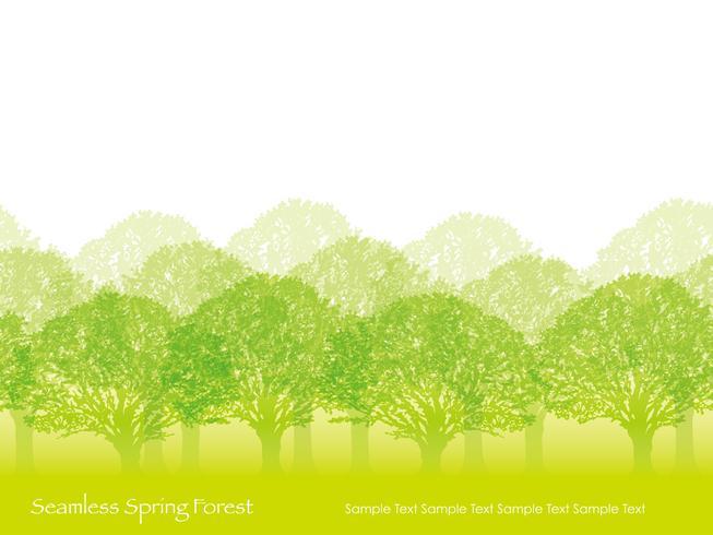 Sömlös skog i vårfärger med textutrymme.