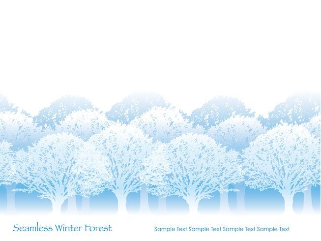 Sömlös skog i vinterfärger med textutrymme.
