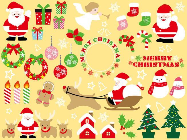 Sats av olika jul grafiska element.