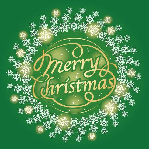 Merry Christmas text design, vector illustration.