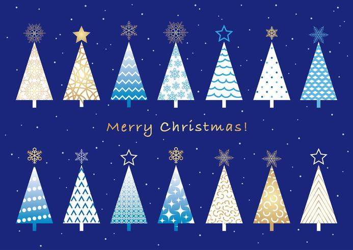 Sats av diverse julgranar.