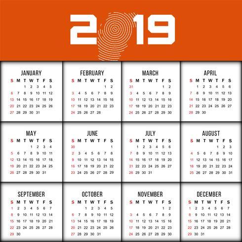 2019年日曆模板 免費下載 | 天天瘋後製