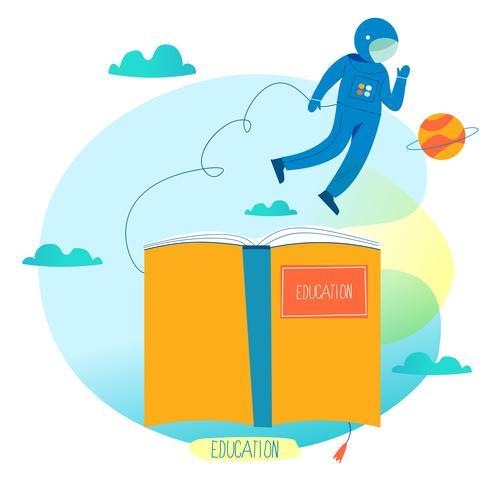 Educación, cursos de capacitación en línea, ilustración vectorial plana de educación a distancia vector