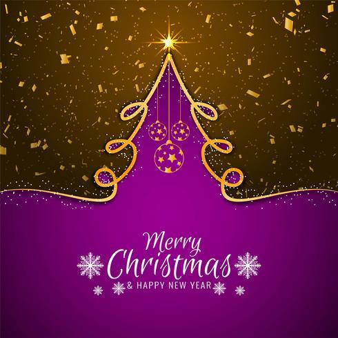 Glad jul vacker bakgrund med träddesign