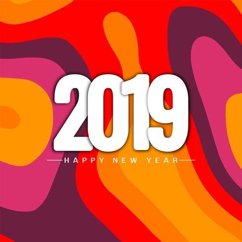 Feliz año nuevo 2019 fondo elegante saludo