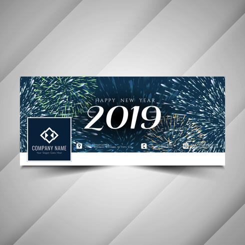Gott nytt år 2019 social media banner mall