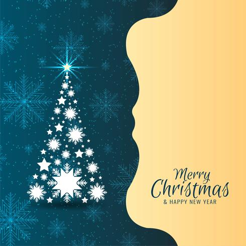 Vrolijke Kerstmis mooie achtergrond met boomontwerp