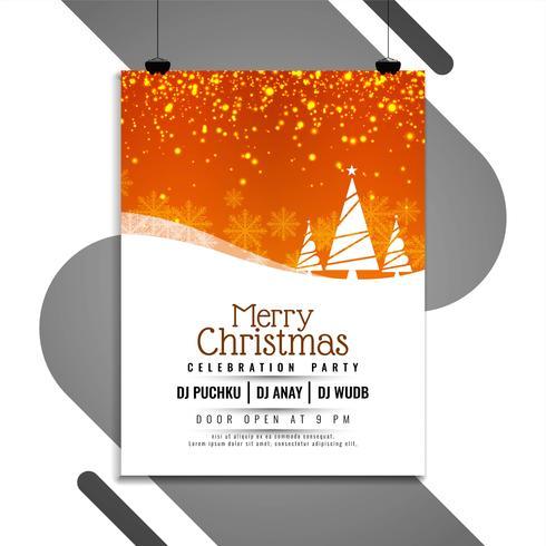 Abstract Merry Christmas celebration modern flyer design