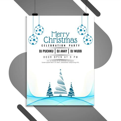 Abstrakt Merry Christmas Celebration Flyer Template