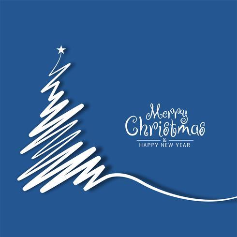 Abstrakt God jul bakgrund med träd design
