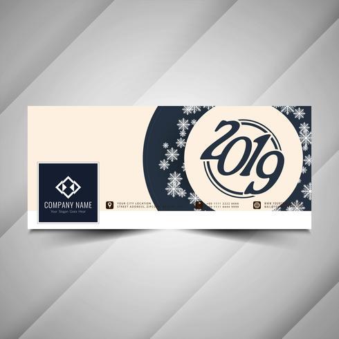 Nyår 2019 stilig social media banner design