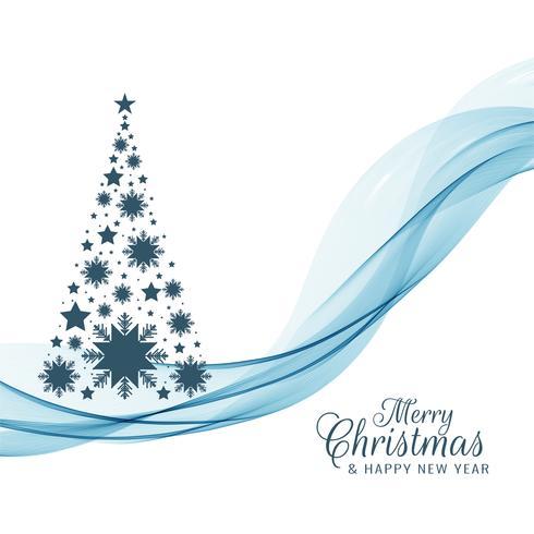 Buon Natale bellissimo sfondo con disegno dell'albero