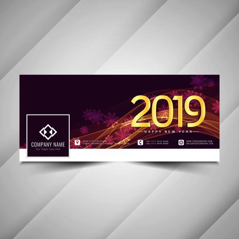 Gott nytt år 2019 social media modern banner