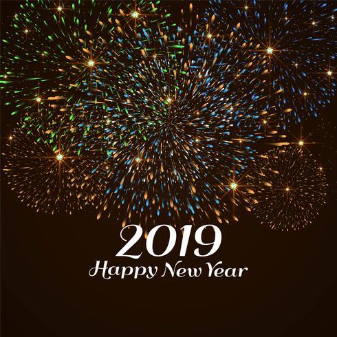 Gott nytt år 2019 färgstark dekorativ bakgrund